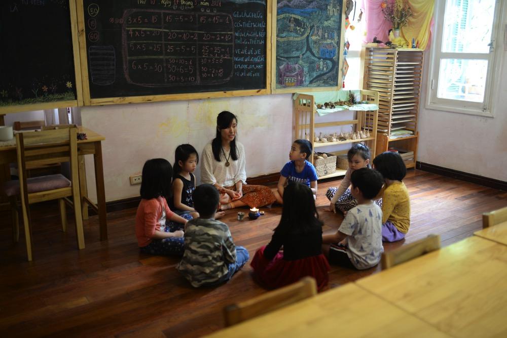 Môn tiếng Việt tại Lớp tiền tiểu học theo phương pháp giáo dục Steiner