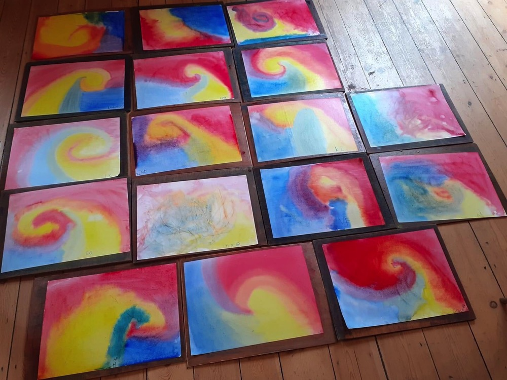 Học nghệ thuật tại Lớp tiền tiểu học theo phương pháp giáo dục Steiner